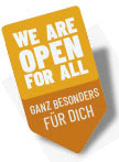 We are open for all - ganz besonders für dich